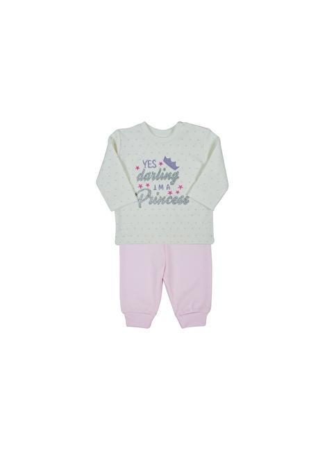 Baby Corner Pijama Takım Ekru